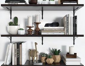 3D Shelves BERGSHULT KROKSGULT IKEA with decorative