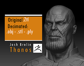 3D printable model Josh Brolin - Thanos - Avengers