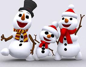 3DRT-Crazy dancing snowmen animated realtime