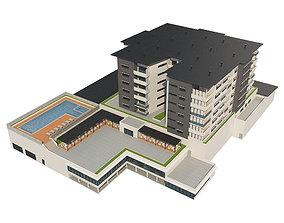 Hotel Building 1 3D