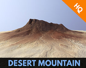 3D model Desert Mountain Africa Landscape Dunes PBR Low 1