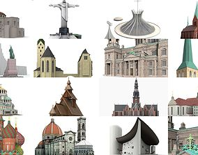 15x Churches and cathedrals worldwide 3D Model Collection