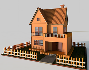 Cartoon House family 3D model