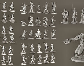Banana Knights with Falchion Swords 3D printable model 5