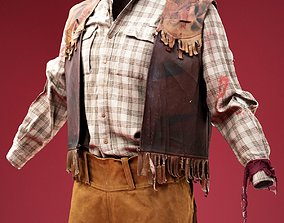 3D model Jacket Cowboy Horror Cosplay Costume