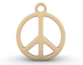 Peace Pendant 3D printable model