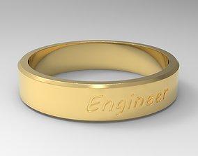 Engineer Ring Gold 3D printable model