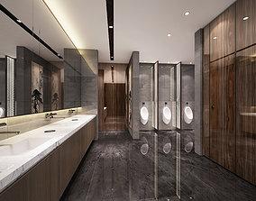 urinal 3D Modern office washroom