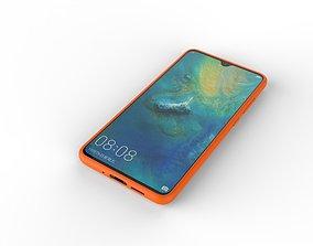 3D model HUAWEI MATE20 orange case