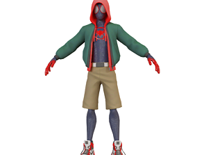 3D asset Miles Morales Siderman into the spider verse