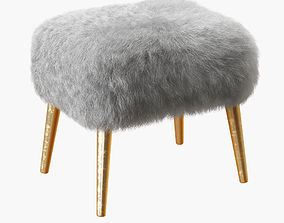 Mongolian Lamb Stool-02 3D model