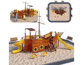 3D Children playground sea schooner