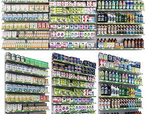 3D model Market shelves