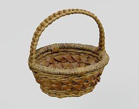 Wicker Fruit Basket photogrammetry scan PBR 4K 3D asset