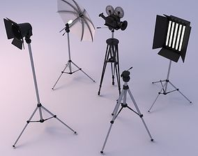 photography studio objects 3D