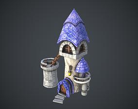Cartoon Magic tower 3D model
