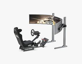 Playseat Driving Simulator Seat and Monitor 3D model