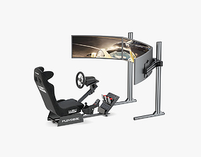Playseat Driving Simulator Seat and Monitor 3D model