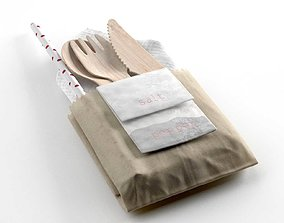 3D Napkin Pockets with Wooden Cutlery