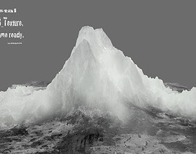 cold 3D model low-poly iceberg