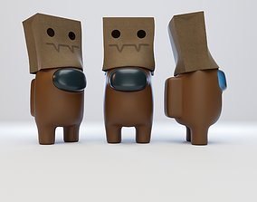 Among Us Spooky Paper Bag Character 3D