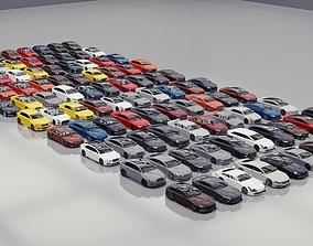 BLENDER EEVEE Brandless 100 car collection volume 3D model