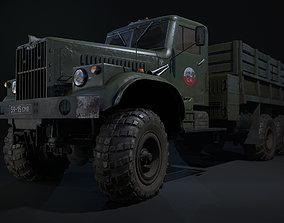 Soviet Military truck KRAZ 255B 3D model