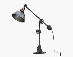 3D RH INDUSTRIAL ERA TASK LAMP PEWTER