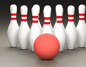 3D Bowling Ball and Pins