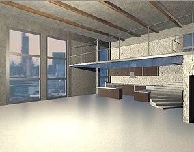 game-ready Modern Loft 3D Model