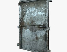old metal door 3D model VR / AR ready