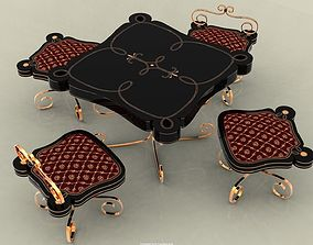 Coffee table set 3D