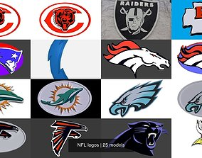 3D model NFL logos