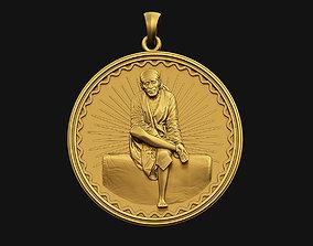 3D printable model Sai Baba Coin Pendant