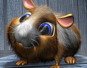 Cartoon Hamster Rigged 3D model