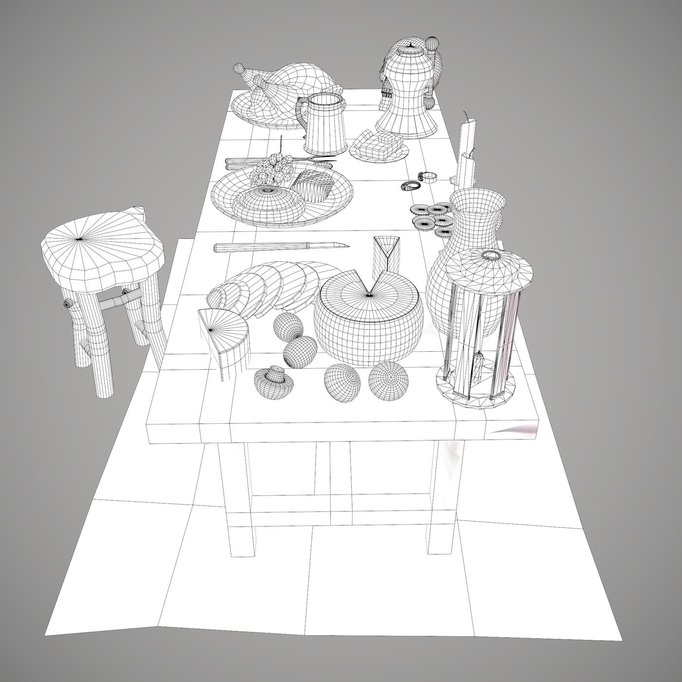 Medieval Tavern Scene