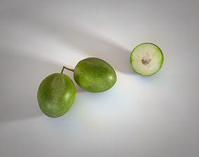 3D model Olive raw fruit