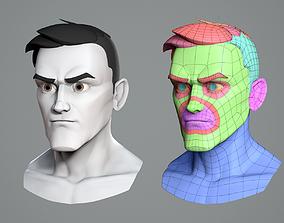 Male cartoon character base mesh 3D model