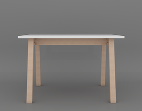 Dining table 3D asset realtime