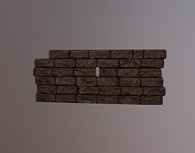 3D asset Stone Brick Wall