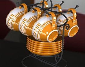 Coffee Cup Set 3D model
