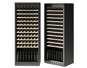3D model Samsung LUX Winecellar Fridge Refrigerator