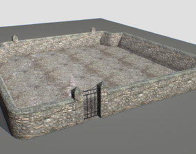 Stone wall pack 1 3D asset VR / AR ready