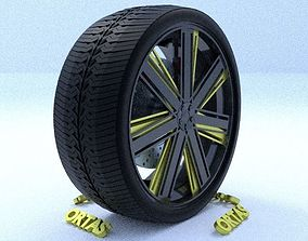 3D ORTAS CAR RIM 17 GAME READY RIM TIRE AND DISC