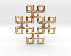3D printable model Square Knots Pendant