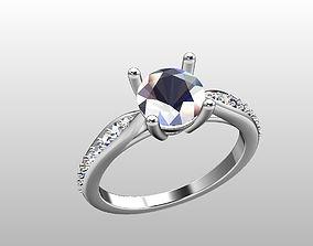 gold Diamonds Engagement Ring 3D print model