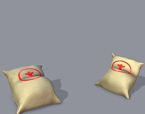 3D asset Low poly bag