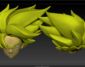 Goku head forest 3D print model