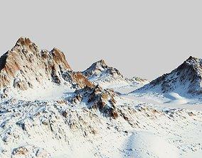 Snow mountain Pack 3D asset