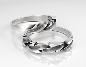 3D printable model Ring Leaves